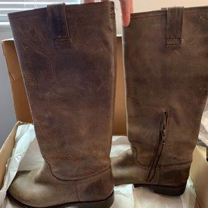 Frye Shoes - Frye Brown Jenna Inside ZIP Boot